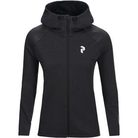 Peak Performance Pulse Zip Hood Dame dark grey melange